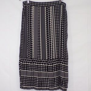 Who What Wear Polk A Dot Pleated Skirt, Sz 12